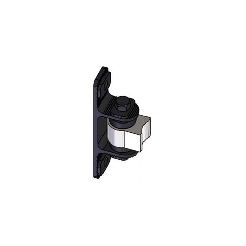 Nationwide Industries HD Bearing Hinge - Body Steel Weld-on, Mill - Yoke Alum. Bolt-on, Black - Each
