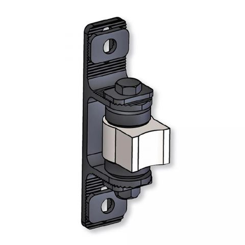 Nationwide Industries Heavy Duty Ball Bearing Hinge - Steel Weld-On Mill Body & Aluminum Bolt-On Black Yoke