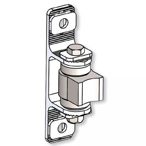 Nationwide Industries Heavy Duty Ball Bearing Hinge - Steel Weld-On Mill Body & Aluminum Bolt-On Mill Yoke