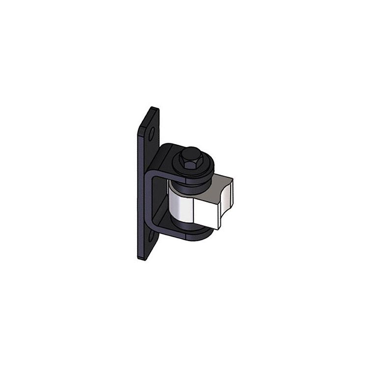 Nationwide Industries HD Bearing Hinge - Body Steel Weld-on, Mill - Yoke Steel Bolt-on, Black - Each