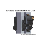 Nationwide Industries Keystone Advantage Metal Two-Sided Lockable Gate Latches (KLADV-M2-P)