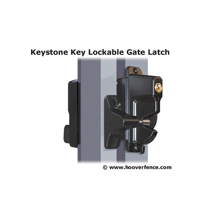 Nationwide Industries Keystone Advantage Metal Two-Sided Lockable Gate Latches