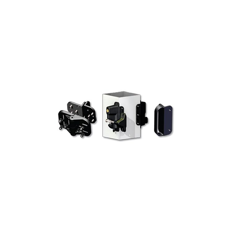 Nationwide Industries Keystone/Cornerstone Gate Kit, Black (includes CH300F-SD-BK, KLADV-P2-BK, and NW314S-BK)
