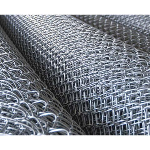 "9 Gauge x 2"" Chain Link Fence Fabric, Aluminum"
