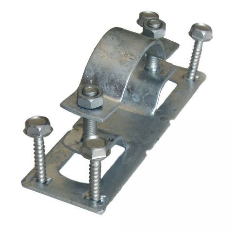 """OZCO Building Products WAP-OZ 2-3/8"""" Steel To Wood Fence Bracket - Each - Pre-Assembled"""