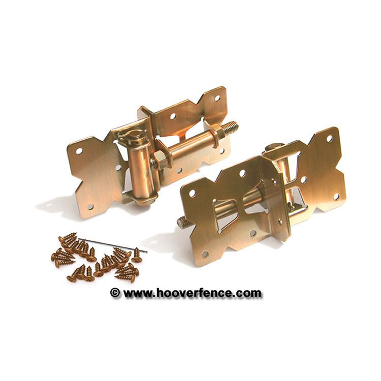 Nationwide Industries Stainless Steel Self-Closing Adjustable Hinges for Wood & Vinyl Gates