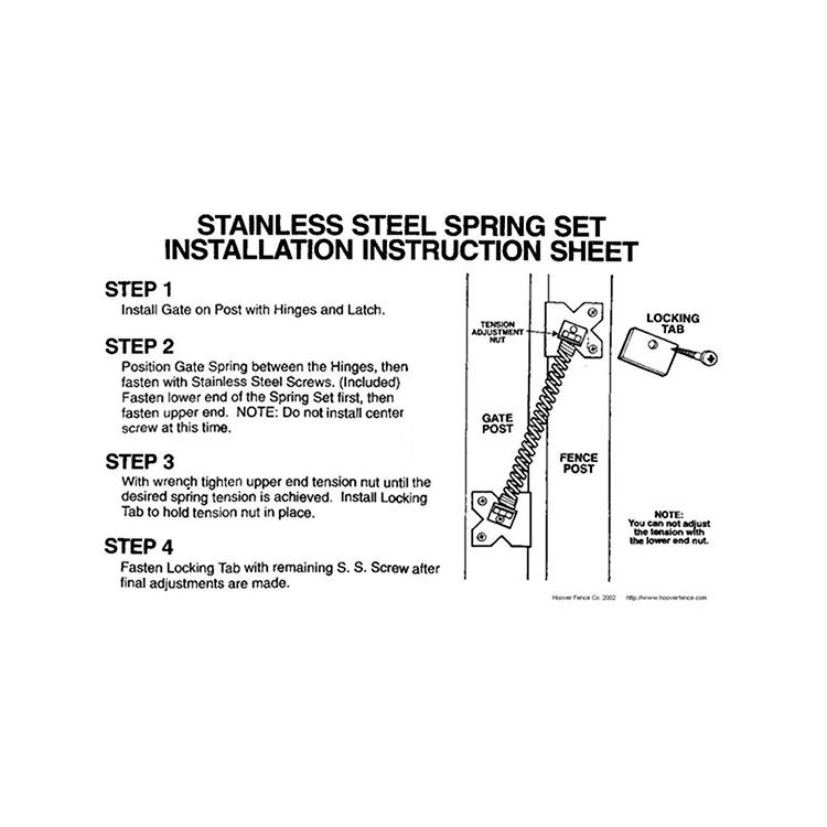 Exceptional Stainless Steel Gate Spring For Vinyl Aluminum And Ornamental