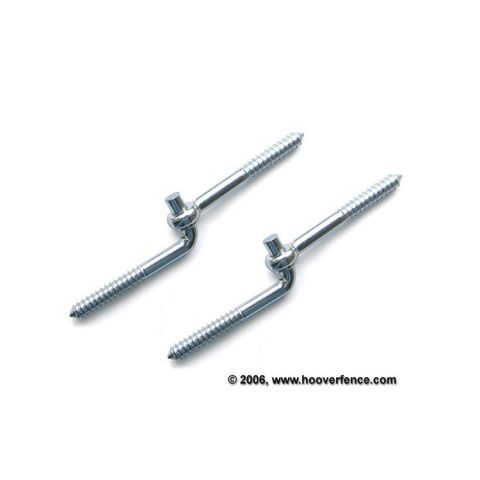 Nationwide Industries Screw Hook & Eye Hinges for Wood Gates, Pair
