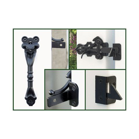 Snug Cottage Hardware Hampton Thumb Latches for Vinyl Gates