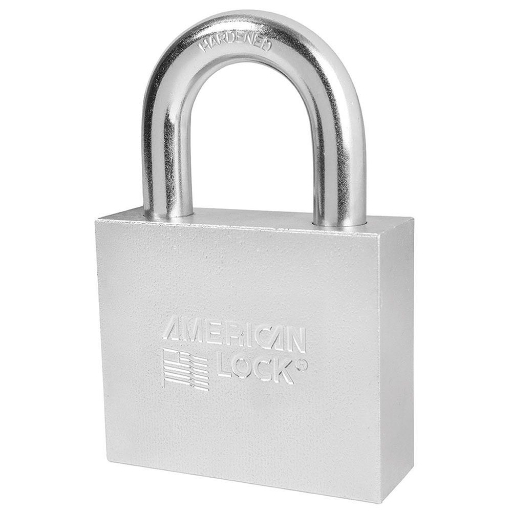 "American Lock 3"" Shrouded Solid Steel BumpStop Rekeyable Pin Tumbler Padlock, Keyed Alike"