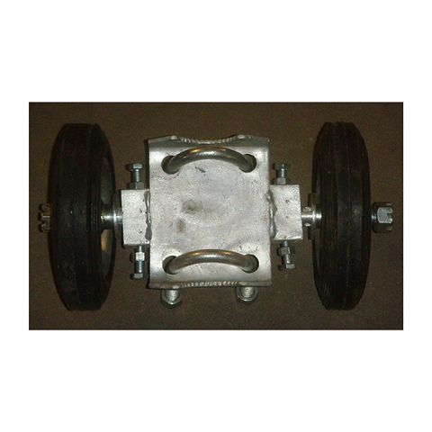 Chain Link Double Wheel Carriers - Residential Grade