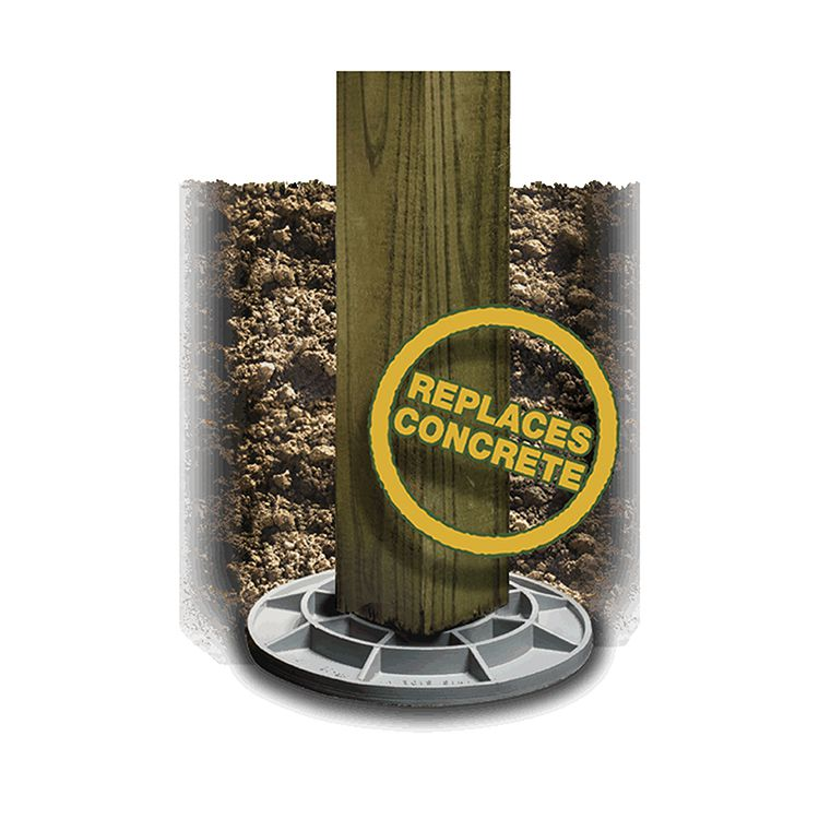 Footingpad Composite Footing Systems Hoover Fence Co