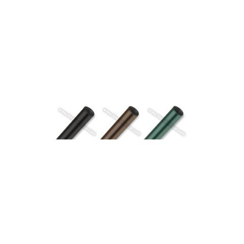 HF20 Round Chain Link Fence Posts and Pipes - Black, Brown, and Green