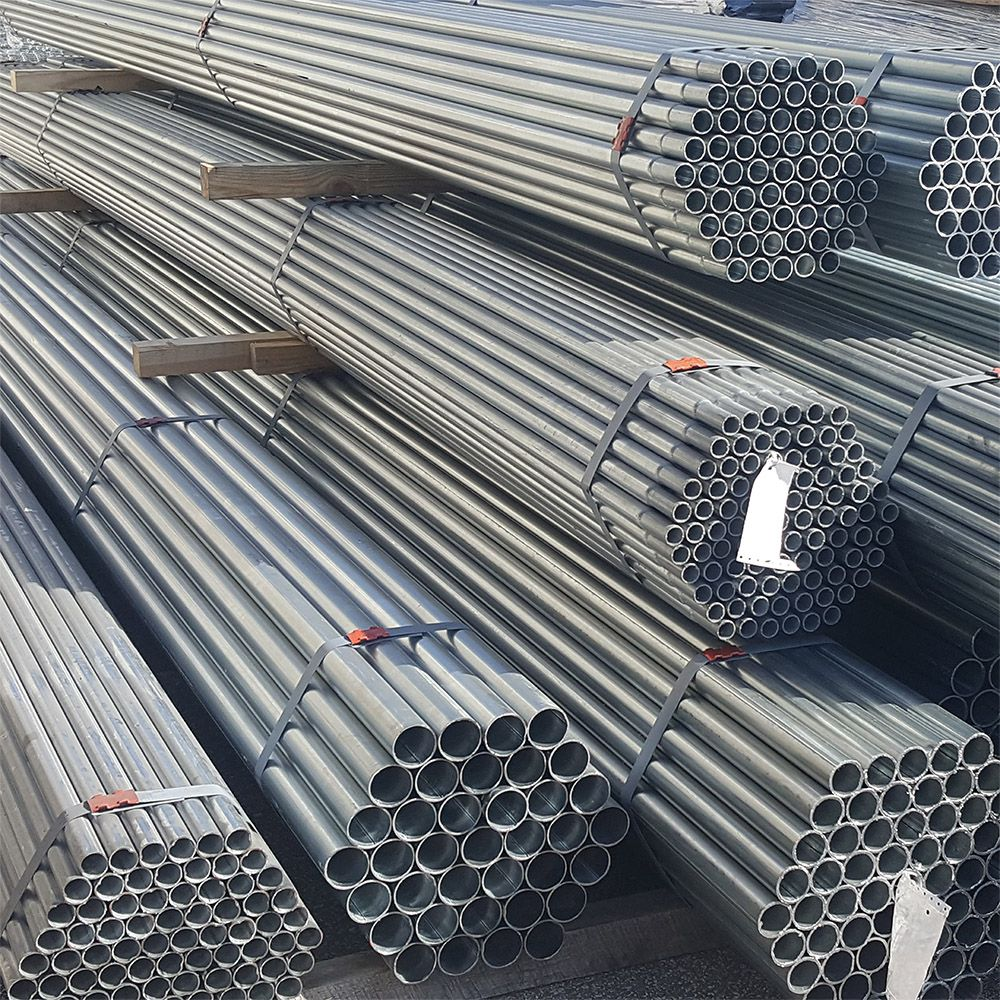 HF40 Round Chain Link Posts and Pipes, Galvanized