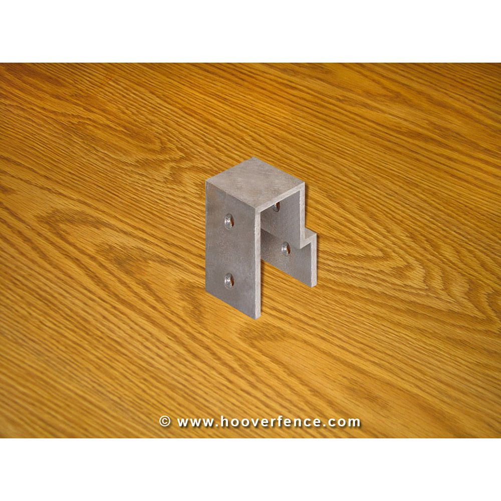 "Aluminum Bridge Fitting - 2"" - 1-5/8"" Top Cap"