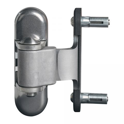Locinox 180 Degree Hinge for Steel and Aluminum Gates, 2 Way Adjustable, All Stainless Steel, Pair of 2