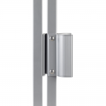Locinox MAG Electromagnetic Locks with Handles On Gate - Latched