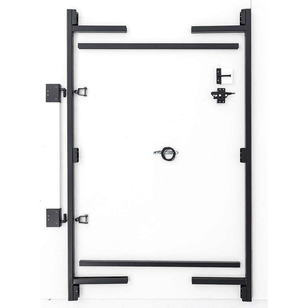 "Jewett-Cameron 3-Rail Single Adjust-A-Gate, 60""H x 36-60"" Widths"