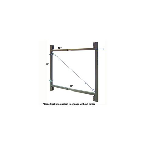 "Jewett-Cameron 2-Rail Single Adjust-A-Gate, 36""H x 36-60"" Widths"