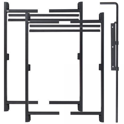"Jewett-Cameron 3-Rail Double Adjust-A-Gate Kit w/ Drop Rod, 60""H x 36-60"" Each"