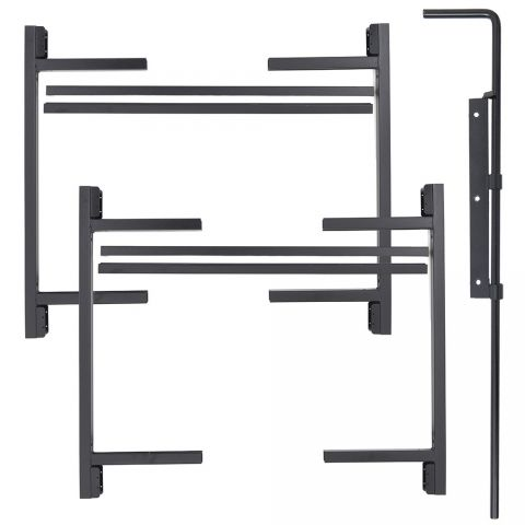 "Jewett-Cameron 2-Rail Double Adjust-A-Gate Kit w/ Drop Rod, 36""H x 36-60"" Each"