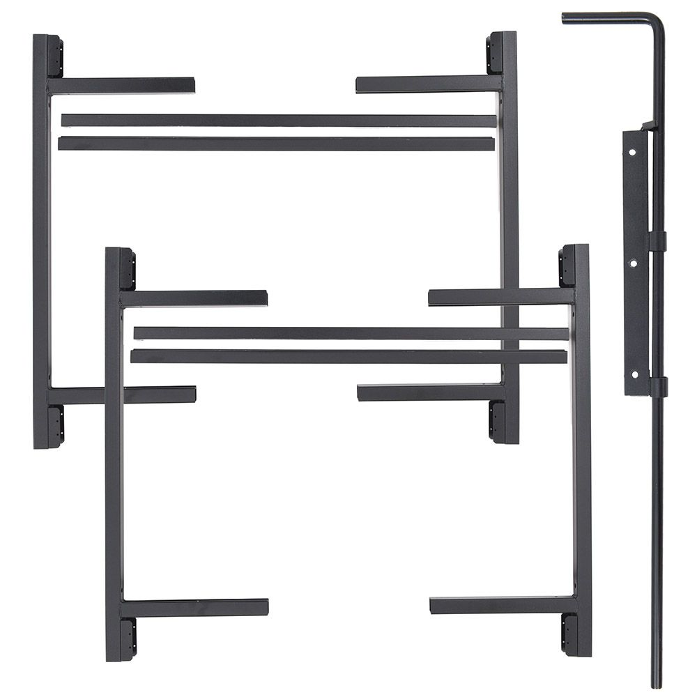 "Jewett-Cameron 2-Rail Double Adjust-A-Gate Kit w/ Drop Rod, 50""H x 36-60"" Each"