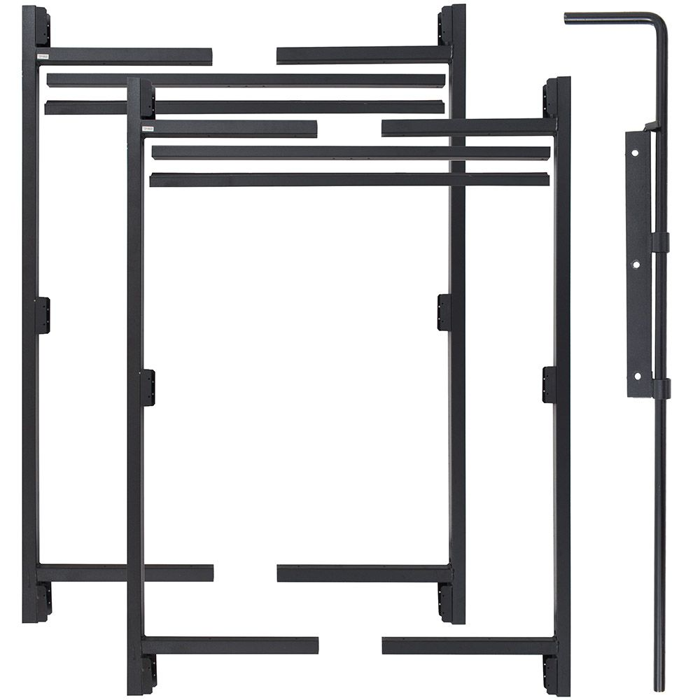 "Jewett-Cameron 3-Rail Double Adjust-A-Gate Kit w/ Drop Rod, 60""H x 60-96"" Each"
