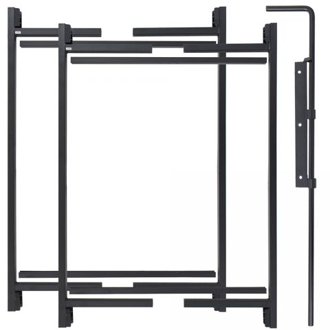 "Jewett-Cameron 2-Rail Double Adjust-A-Gate Kit w/ Drop Rod, 50""H x 60-96"" Each"