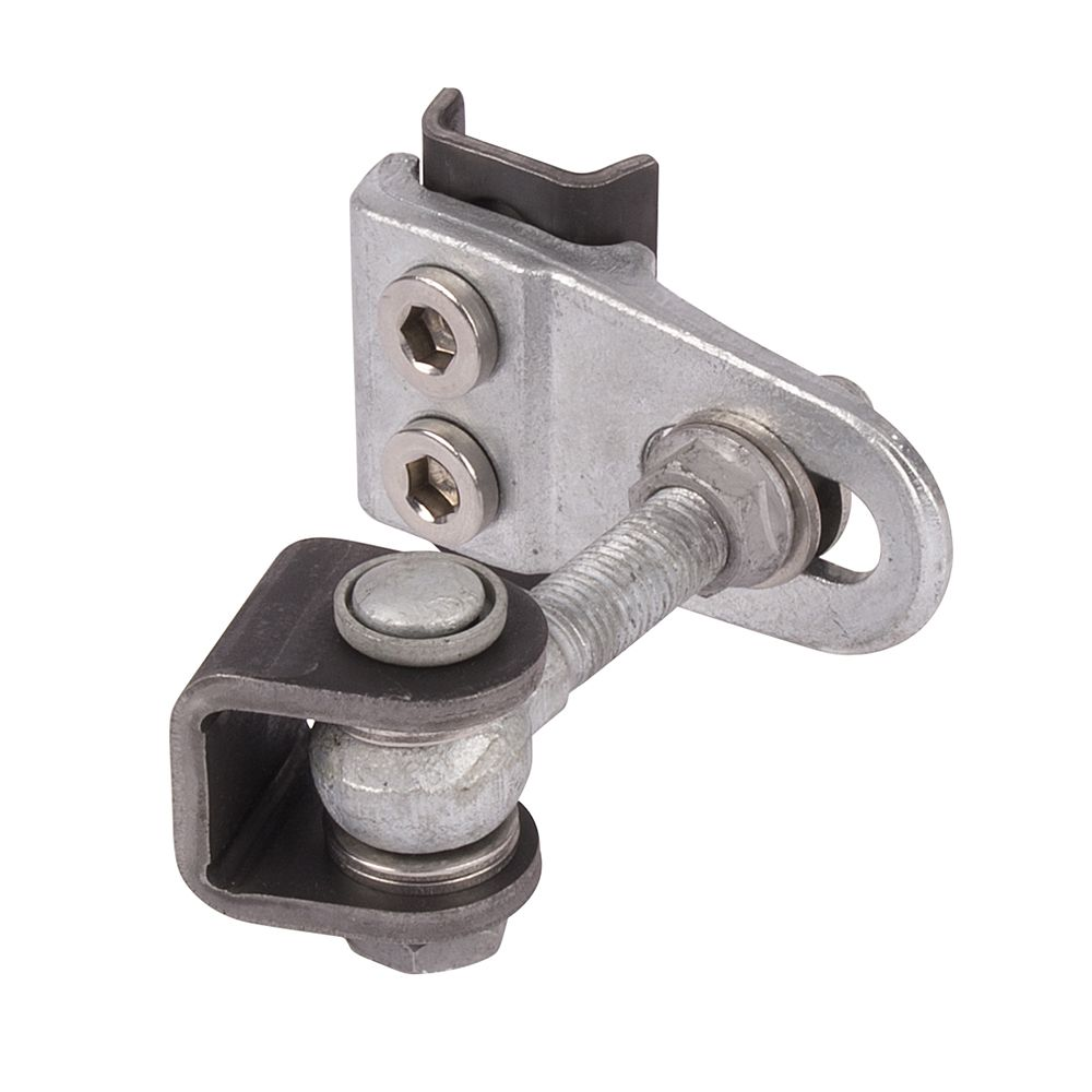 Locinox Regular Duty Hinge, 4-Way Adjustable, Hot Dip Galvanized, Steel Welding Tab, Pair of 2