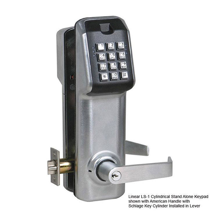 Linear LS-1 Stand Alone Keypad Access Control with Cylindrical Lockset