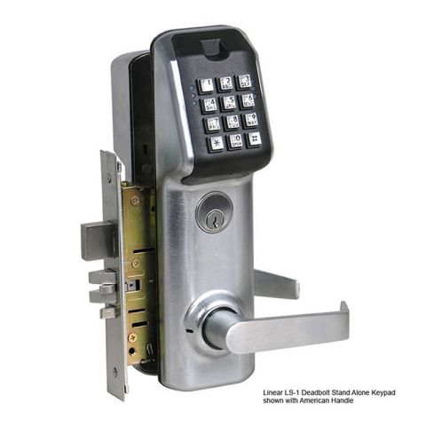 Linear LS-1 Stand Alone Keypad Access Control with Deadbolt Mortise Lockset