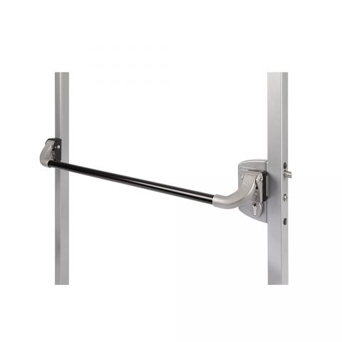 Locinox Black, Anodised Aluminium Push Bar, Compatible with Locinox Hybrid Insert Locks