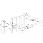 Locinox Samson 2 Hydraulic Gate Closer Dimensional Drawing