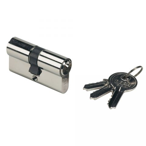 "Locinox Lock Cylinder, 60mm, Keyed Alike, w/3 Keys for ""Hy"" Locks"