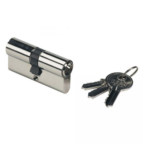 "Locinox Lock Cylinder, 80mm, Keyed Alike, w/3 Keys for ""Hy"" Locks"