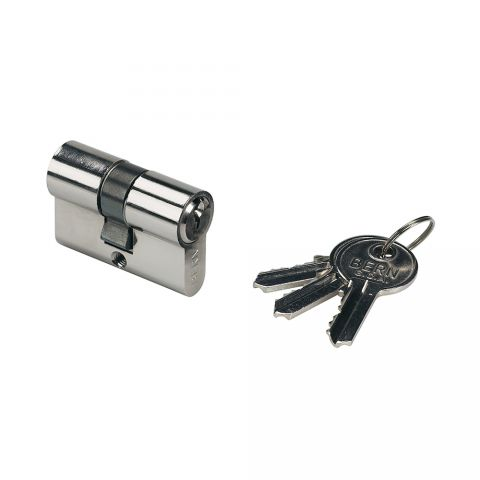 "Locinox Lock Cylinder, 1-13/16"" Long (46 mm), Keyed Alike, w/3 Keys for ""F"", ""P"" and ""Hy"" Locks"