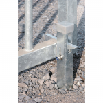 Locinox ABL Gate Hold Back Catch, Hot Dip Galvanized Installed in Gravel