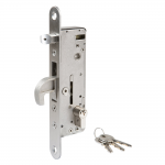 Locinox H-METAL Hybrid Lock for Wood, Metal, or PVC Gates With Cylinder and Keys