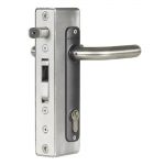 Locinox H-METAL-WB Hybrid Lock for Weld Box Installed on Gate Upright
