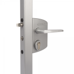 Locinox LAKQU2 Industrial Gate Lock - Silver Finish