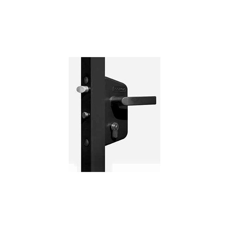 "Locinox Garden Gate Lock Kit - Black - Fits 1-1/2"" Flat - Includes LAKZ40PBL and SMKLQFBL"