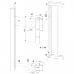 Locinox Mammoth180 Self-Closing Hinge Set Dimensions