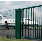 Locinox LSKZU2 Sliding Gate Lock Installed at Airport