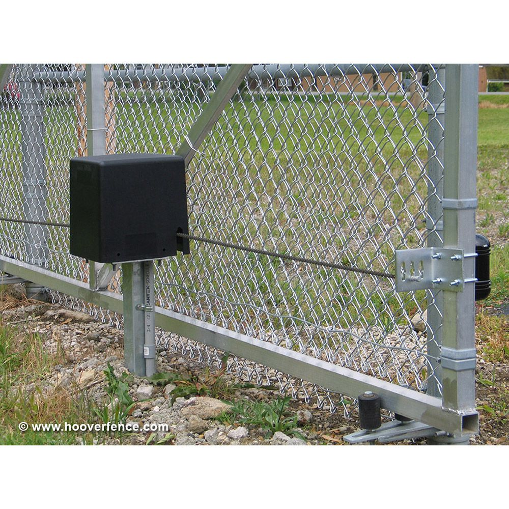 Hoover fence chain link single track aluminum slide gate