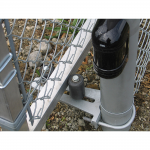 Hoover Fence Chain Link Single Track Aluminum Slide Gate Kit Installation - Bottom Guide Assembly & Photoeye