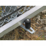 Hoover Fence Chain Link Single Track Aluminum Slide Gate Kit Installation - Bottom Guide Assembly