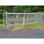Hoover Fence Chain Link Single Track Aluminum Slide Gate Kit - Gate Open