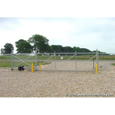 Hoover Fence Chain Link Fence Steel Cantilever Slide Gate Kits - Automated