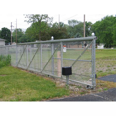 Hoover Fence Chain Link Single Track Aluminum Slide Gate Kits