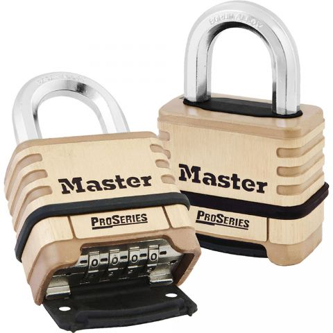 "Master Lock 2-1/4"" ProSeries Brass Resettable Combination Padlock"